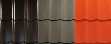 Trendhout dakpanprofielplaten-set terracotta (per m2)