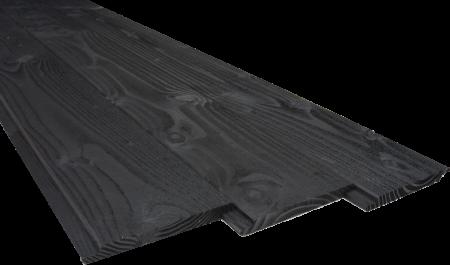 Sponningplank Douglas Zwart Gespoten 18x190mm