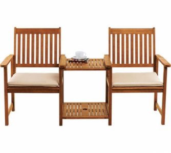 Duo Seat Onbehandeld/blank