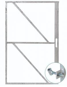IJzeren deurframe met slotkastuitsparing H200xB100cm
