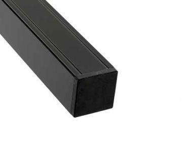Paal Aluminium Antraciet met houten kern 68x68mm