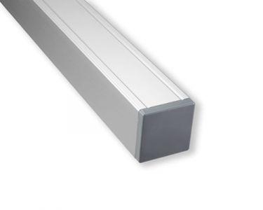 Paal Aluminium met houten kern 88x88mm