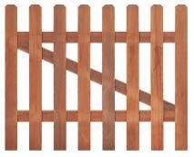 Tuinhekdeur recht hardhout B100xH90cm