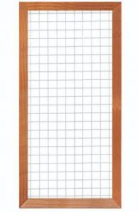 Gaaselement met houten kader hardhout H180xB90cm