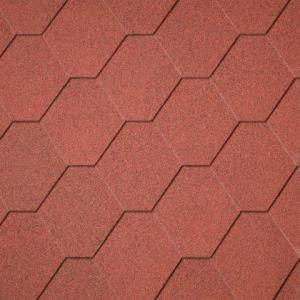 Dakshingles hexagonaal rood