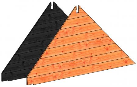 Trendhout topgevel Kapschuur De Hoeve XL zwart