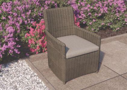 Wicker stoel Danburry donker bruin