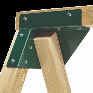 Schommelhoek voor vierkante palen (68x68mm t/m 125x125mm)