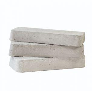 Beton vulblokje 10 cm Wit/grijs