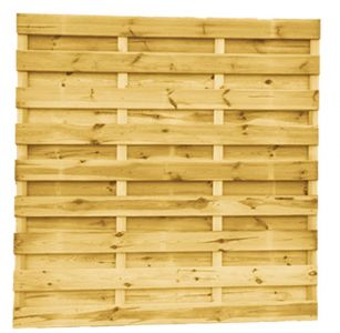 Grenen geschaafd plankenscherm 21-planks 15 mm, 180 x 180 cm