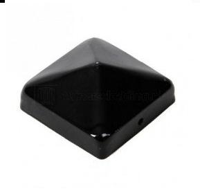 Paal-ornament piramide zwart gecoat 91x91MM