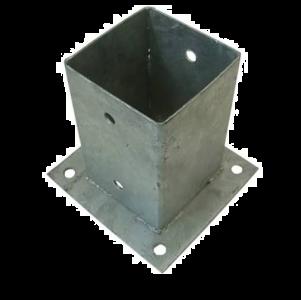 Paalplaathouder thermisch verzinkt 141x141MM