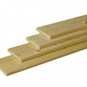Douglas plank 2,8x19,5cm groen geïmpregneerd