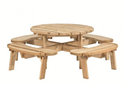 Picknicktafel rond