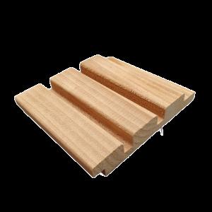 Sample: Red Class Wood triple profiel 22x140mm
