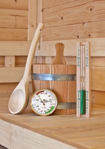Sauna accessoires set met voorschriften