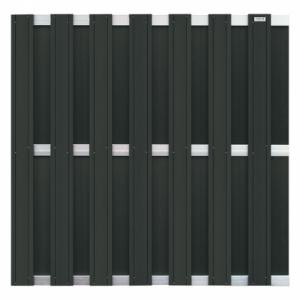 Tuinscherm Composiet Design Antraciet 39x1800x1930mm