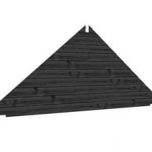 Toplawood topgevel Potdekselplank zwart
