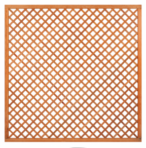 Trellis diagonaal met lijst hardhout B180xH180cm