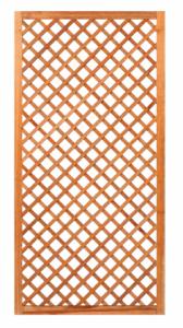 Trellis diagonaal met lijst hardhout B90xH180cm