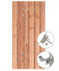Tuindeur Privacy Red Class Wood met RVS slot