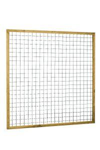 Eco gaastrellis in grenen raamwerk 4,5x4,5cm 180cm groen
