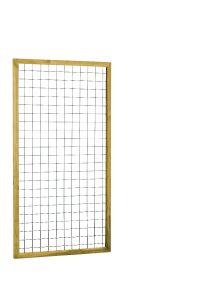 Eco gaastrellis met maas 7,5 x 7,5 cm, in grenen raamwerk 4,