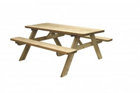 Picknicktafel Easy 42mm dik bladmaat 180x70cm