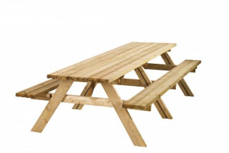 Picknicktafel Lange Jan 42mm dik bladmaat 300x70cm