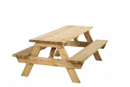 Picknicktafel Bobito 42mm dik bladmaat 220x71cm