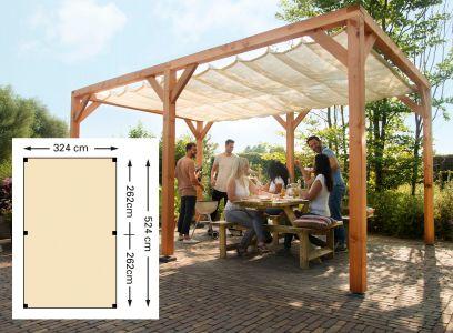 Douglas houtpakket 324 x 524 cm t.b.v. schaduwdoek 290 x 500