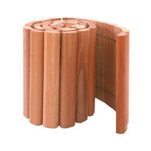 Hardhouten rolborder # 4 x 20 x 180 cm.