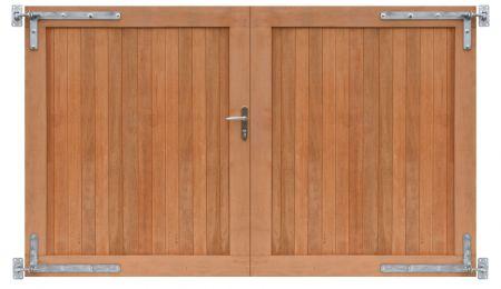 Hardhouten dubbele toegangspoort vc 300x180cm incl. beslag