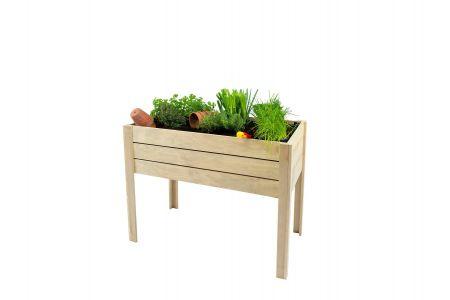 Minigarden op poten grenen 80 x 100 x 50 cm (HxBxD), groen g
