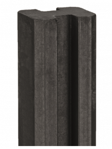 Eindpaal beton Zaan 100x100x2750 antraciet gecoat