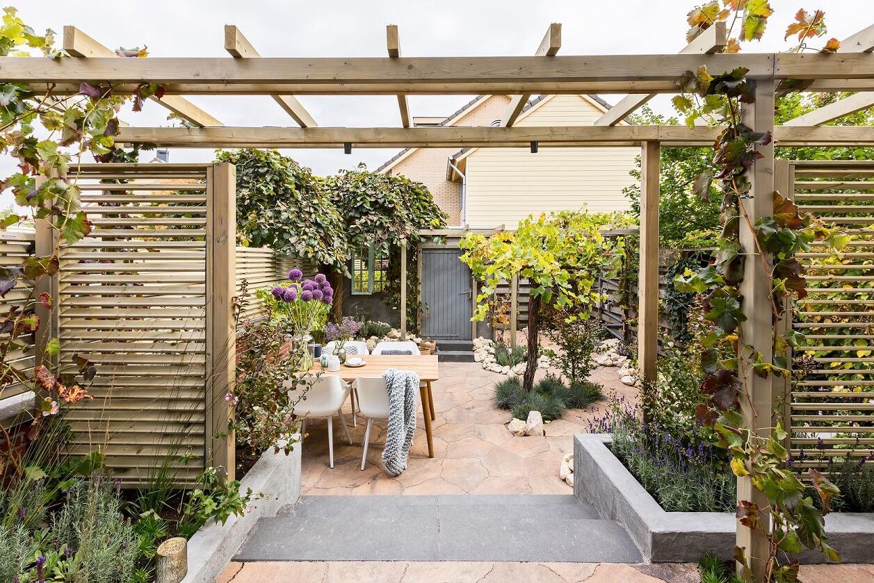 Hedendaags Shop the look: Franse tuin met shutterschermen | Tuinhoutdiscount.nl KN-09